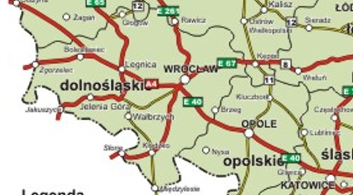 boleslawiec road map