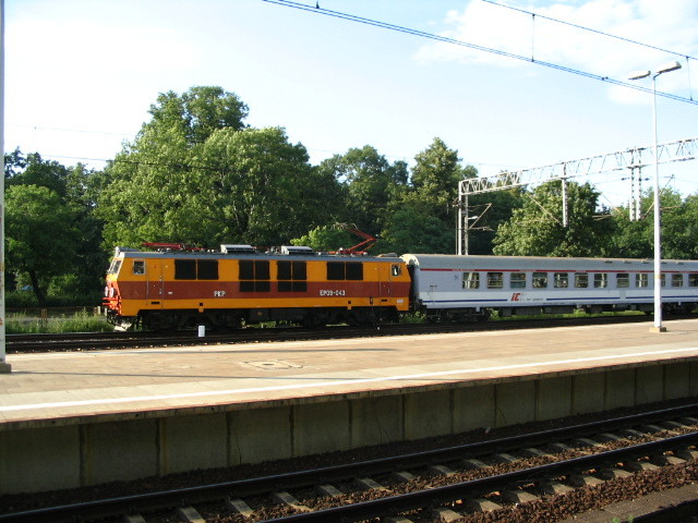 Polish intercity train