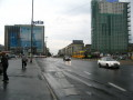 The Warsaw centrum in the rain