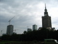 Warsaw Poland under construction