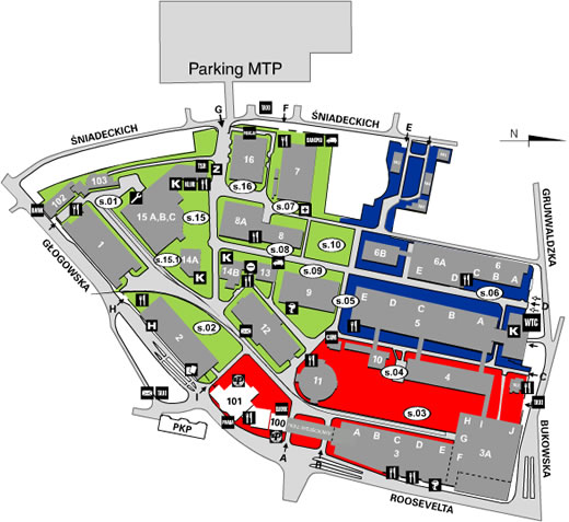poznan fairgrounds map