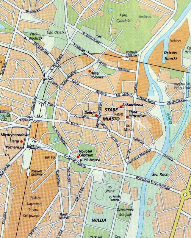 street map of poznan