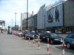 Taxis in Warsaw.
