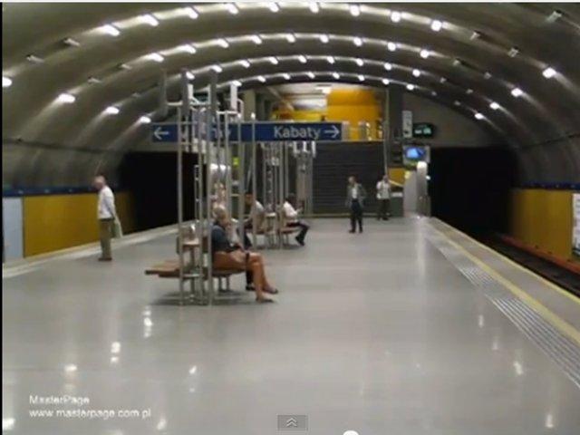 Warsaw Metro Station