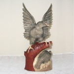 The Polish Eagle carved in wood.