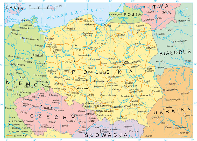 maps of poland and polish regions