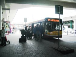 Bus 175 at the Warsaw Airport