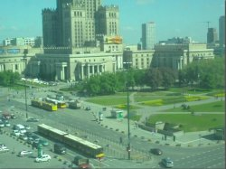 warsaw poland centrum arial view